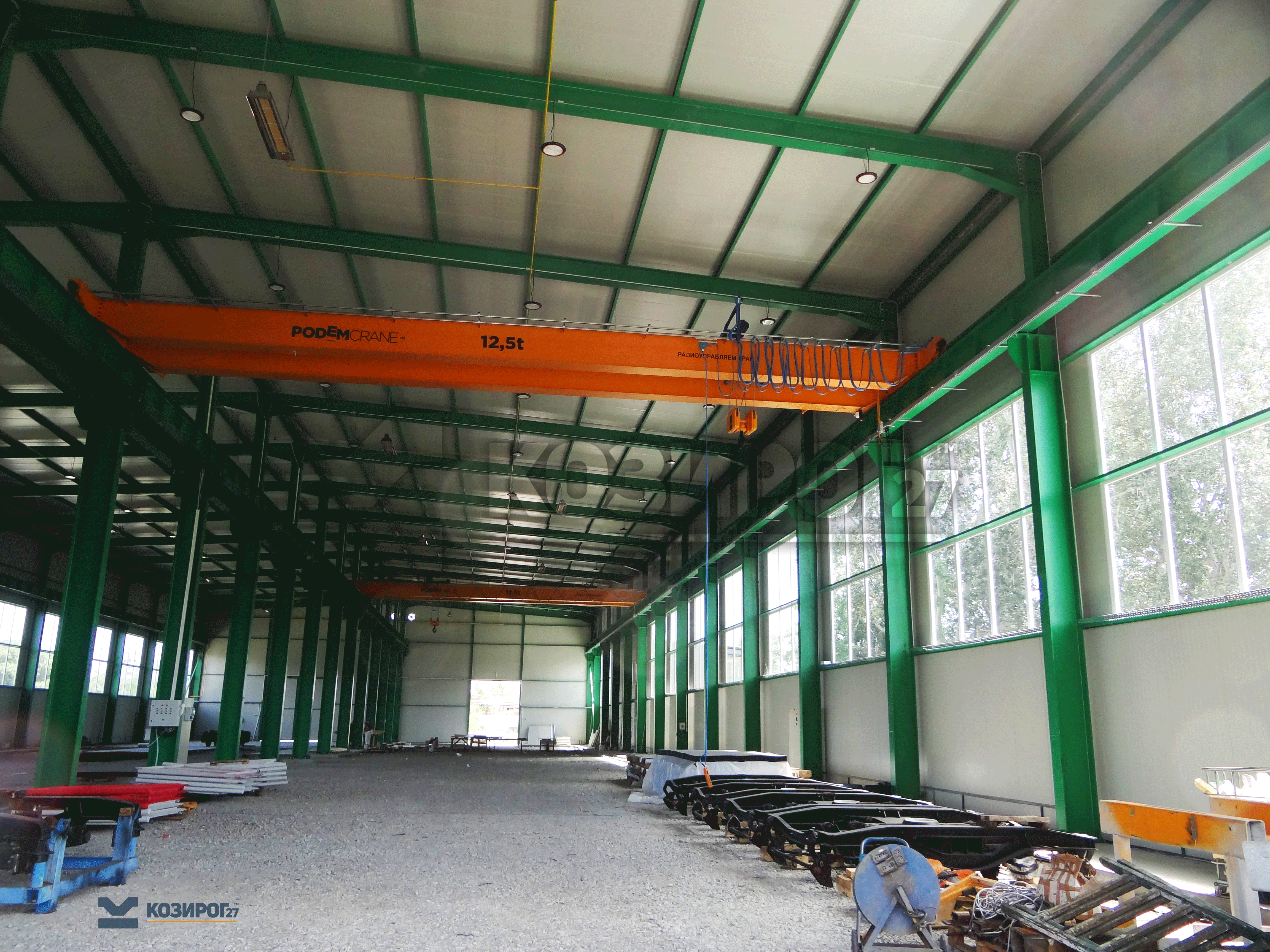 производствена база на Трансвагон построена чрез метална конструкция и изолационни термо панели от Козирог27 ЕООД